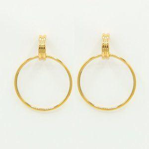 Danielle 18K Gold Plated Hoop Interlock Earrings